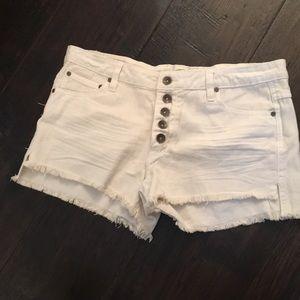 O'Neill white jean shorts